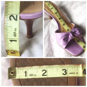 8138015a70d LOFT Shoes - Loft Lavender Peep Toe Bow Kitten Heels